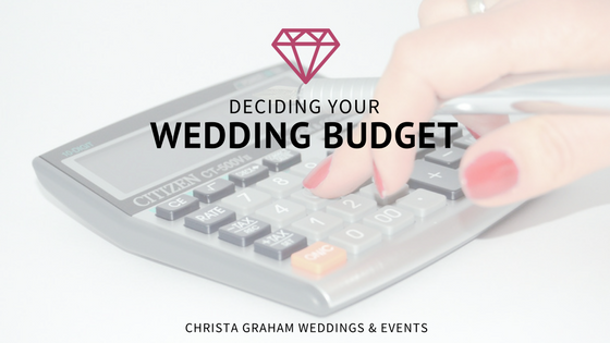 Deciding your wedding budget