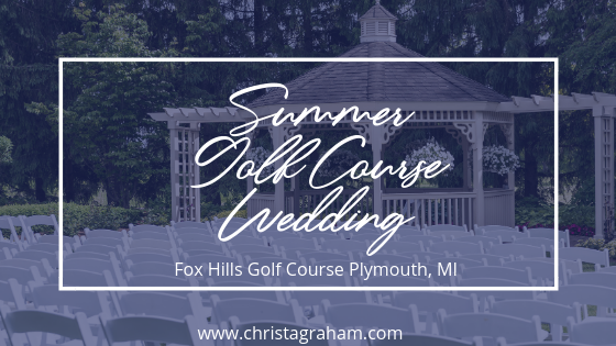 Summer Golf Course Wedding