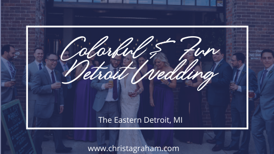 Colorful & Fun Wedding at The Eastern Detroit