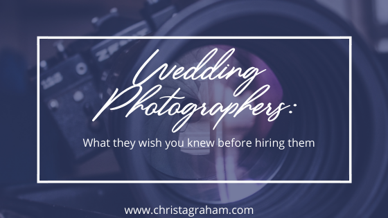 What your wedding photographer wishes you knew